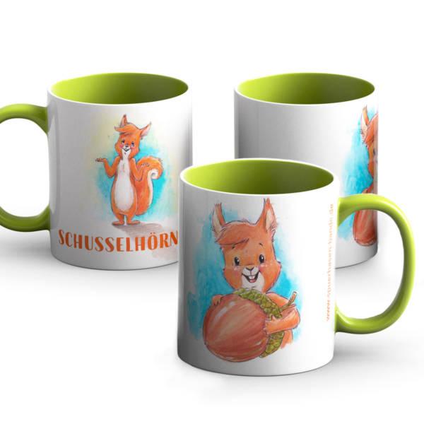 Tasse Schusselhörnchen
